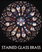 stained glass brass